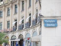 Karlsplatz Stachus abstrakt begrepp Royaltyfri Foto