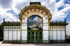 Karlsplatz Stadtbahn station i Wien arkivfoto