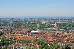 Karlsruhe - Ansicht von Turmberg Lizenzfreie Stockfotografie