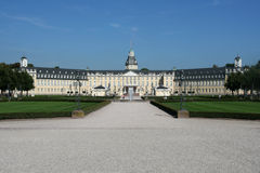 The Karlsruhe castle. In Germany is home of the main German court royalty free stock images