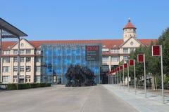 Karlsruhe, Deutschland, am 5. August 2018: ZKM-Mitte für Kunst und Medien lizenzfreies stockbild