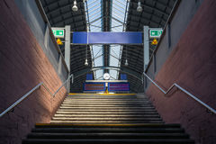 Karlsruhe Hauptbahnhof Main Train  Station Daytime Transportatio. N City Urban Staircase Blank Signs Stock Photography