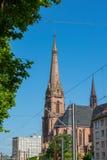 Karlsruhe-Kirchen-Kathedralen-St. Bernhard Religious Architecture Be Lizenzfreies Stockbild