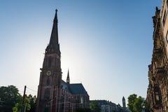 Karlsruhe-Kirchen-Kathedralen-St. Bernhard Religious Architecture Be Lizenzfreies Stockfoto