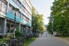 Karlsruhe KIT University op 14 Juni, het Polymeeronderzoek Facul van 2017 Royalty-vrije Stock Fotografie