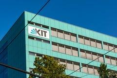 Karlsruhe KIT University op 14 Juni, het Polymeeronderzoek Facul van 2017 Stock Fotografie