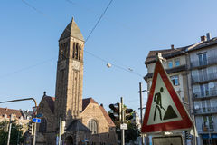 Karlsruhe Luther Church Cathedral Christian Architecture Exterio Lizenzfreie Stockfotos