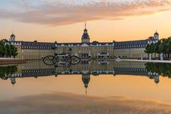 Karlsruhe Palace Center of City Germany Castle Schloss Architect Royalty Free Stock Photo