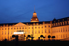 Karlsruhe Palace at night Stock Images