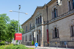 Karlsruhe Staatliche Kunsthalle near the Karlsruher Schloss on J Royalty Free Stock Photography