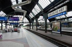 Karlsruhe train station Royalty Free Stock Images