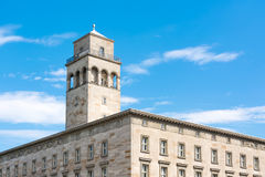 Karlsruhe Volkswohnung Building Apartment Residential Constructi Royalty Free Stock Photos