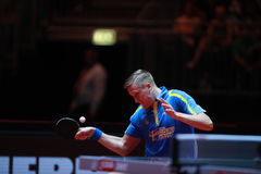 KARLSSON Mattias from Sweden. Men`s Singles Round of 32 world table tennis championships in Dusseldorf. 29 May 6 june 2017 Royalty Free Stock Photo