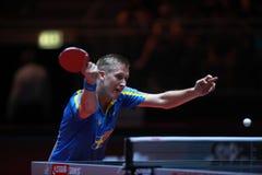 KARLSSON Mattias from Sweden. Men`s Singles Round of 32 world table tennis championships in Dusseldorf. 29 May 6 june 2017 Stock Image
