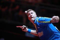KARLSSON Mattias from Sweden. Men`s Singles Round of 32 world table tennis championships in Dusseldorf. 29 May 6 june 2017 Stock Photo