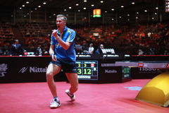 KARLSSON Mattias from Sweden. Men`s Singles Round of 32 world table tennis championships in Dusseldorf. 29 May 6 june 2017 Royalty Free Stock Image