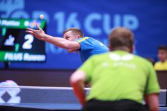 KARLSSON Mattias from Sweden on serve Stock Images