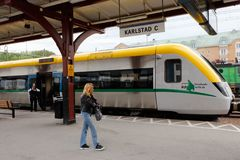 Karlstad järnvägstation royaltyfria foton