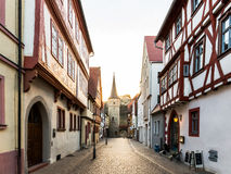 Karlstadt a di fiume Main Fotografia Stock