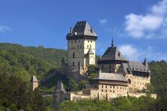 Karlstein城堡 免版税库存照片