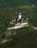 KARLSTEIN CASTLE. Czech republic - air photo Royalty Free Stock Photos