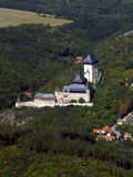 KARLSTEIN CASTLE. Czech republic - air photo Stock Image