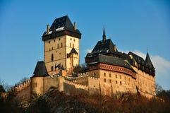 Karlstein Castle. Medieval Karlstein castle on winter Royalty Free Stock Photo