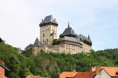 Karlstein castle royalty free stock images