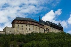 Karlstein castle. Ancient castle in the city of Karlstein, Czech Royalty Free Stock Photos