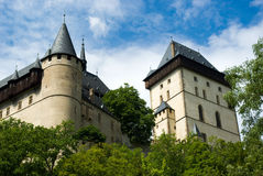 Karlstein castle. Ancient castle in the city of Karlstein, Czech Royalty Free Stock Images