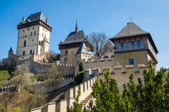 Karlstein castle , Czech Republik Royalty Free Stock Photos