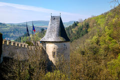 Karlstein castle , Czech Republik Royalty Free Stock Photo