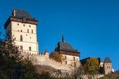 Karlstein castle iwith main Tower. Czech Republic Stock Photos