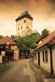 Karlstein-Schloss Tschechische Republik lizenzfreies stockbild