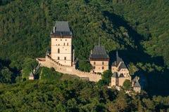 Karlstejn城堡 库存图片