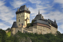 Karlstejn城堡 免版税图库摄影
