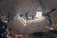 Karlstejn城堡 免版税库存图片