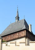 Karlstejn城堡 免版税库存照片