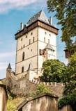 Karlstejn是一座大哥特式城堡由查理四世, y建立了1348 图库摄影