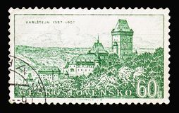 Karlstejn, исторические годовщины serie городков и памятников стоковое изображение rf