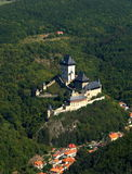 KARLSTEJN CASTLE. Czech republic - air photo Royalty Free Stock Photo