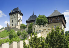 Karlstejn castle. Historic czech landmark Stock Photography
