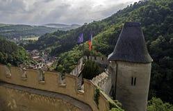 Karlstejn castle. Stock Photos