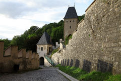 Karlstejn castle in Central Bohemia, Czech Republic Royalty Free Stock Photos
