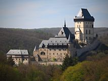 Karlstejn Castle 2019, Czech Republic stock photos