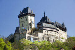 Karlstejn Castle - Czech Republic. Royal gothic castle Karlstejn founded 1348 by Charles IV, Holy Roman Emperor-elect and King of Bohemia. Czech Republicnn Royalty Free Stock Photography