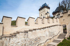 Karlstejn gothic castle facade, Czech Republic Royalty Free Stock Photo