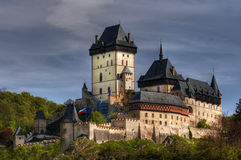 Karlstejn - large gothic castle Royalty Free Stock Images