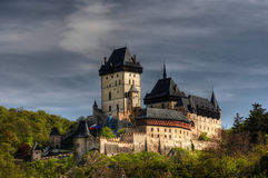 Karlstejn - large gothic castle Royalty Free Stock Photo