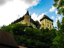 Karlstejn republika czech - Piękna fotografia kasztel obrazy stock